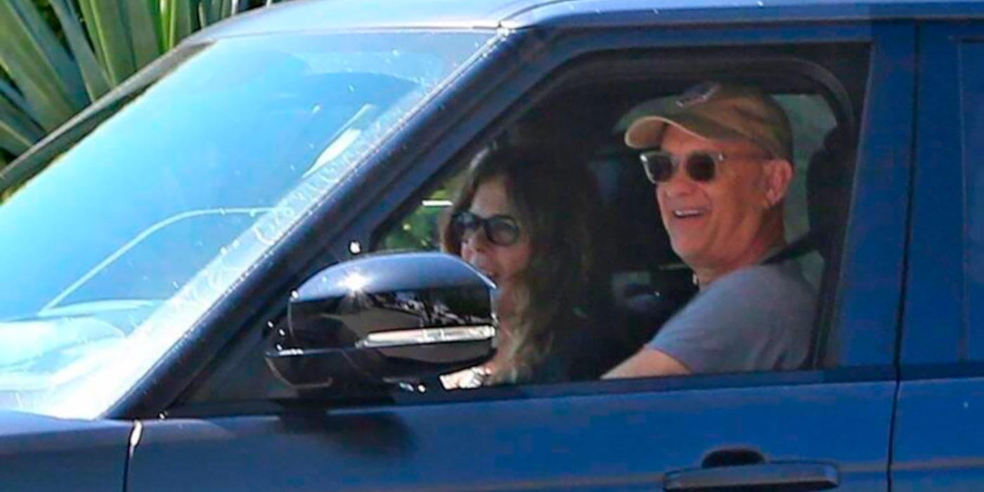 Том Хэнкс и Рита Уилсон здоровы и уже в Лос-Анджелесе